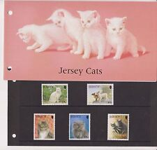 JERSEY PRESENTATION PACK 1994 CATS STAMP SET 10% OFF 5+