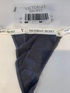 Victoria's Secret VERY SEXY V-String Thong Panty Sz.Medium Gray w/white band NEW