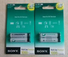 SONY 4XAAA Rechargeable  Batteries NH-AA-B2 (1550 mAh) 1 + 1