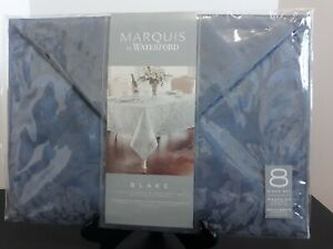 MARQUIS BY WATERFORD BLAKE LUXURY NAPKINS & PLACEMATS 8 PC SET BLUE BRAND NEW
