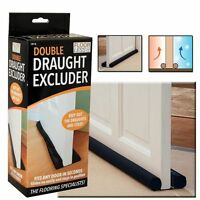 Twin Draught Excluder Double Sided Under Door Insulation Seal (80cm) Cut To Size