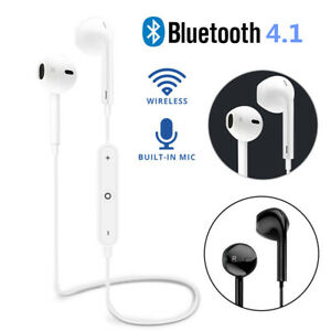For iPhone 12 Xs Samsung S20 S10 Bluetooth Stereo Earphones Headphones Sport Gym