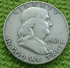 USA Half Dollar 1/2 dollar 1961 D Franklin - silver - KM# 199