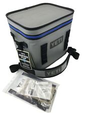 Yeti Cooler Original Hopper Flip 12 Gray & Blue Leakproof