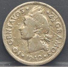 Dominican Republic - 10 centavos 1942 - Silver