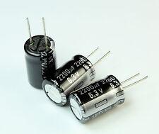 10pcs Panasonic NHG 2200uF 6.3v 105C Radial Electrolytic Capacitor Motherboard