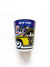 VINTAGE 1990s NY/NEW YORK TAXI CAB Barware Shot Glass Souvenir Collectible
