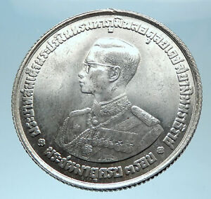 1963 THAILAND King Rama IX Crown Scepter Genuine Silver 20 BAHT Coin i77895