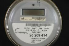 RARE LCD ICON INVENSYS 240 VOLT CL200 ELECTRIC WATTHOUR METER KWH I-210 4 LUG
