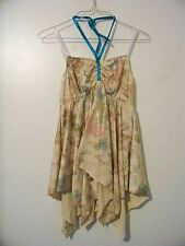 Leo's Women's Gold Dance Top Size Extra Large Good for Halloween Costume Top