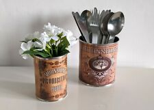 vintage wedding flower table centerpieces display decoration floral tin cans