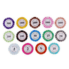 14pcs Poker Chips Casino Coins Clay Poker Chips Gambling Texas Board Games