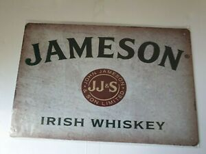 Jameson Whiskey Label Metal Sign Plaque Man Cave Beer Retro Pub Bar Garage Shed