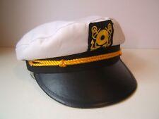 Captain Style Hat Black White 58 cm Snapback Cap