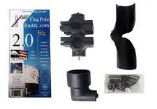 RV Flag Pole Mount Set 2.0 inch by FlagPole Buddy for 22ft Tall Poles (Black)