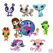 Littlest Pet Shop set of 7 Removable Wall Stickers Decals with Free Group Shot