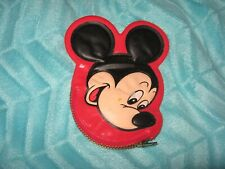 New Vintage Disney Mickey Mouse Coin Purse Squeaky Squeaker Red Face Ears
