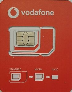 Unlimited Data in EU ⭐ Vodafone Ireland Sim Card 5G ⭐  With €20 Top-up credit ⭐