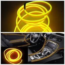 LED EL Wire Neon Glow Car Interior Atmosphere Strip Light Car Charger Decor Lamp