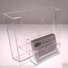 COUNTER MOUNT A6 LEAFLET HOLDER & BUSINESS CARD HOLDER