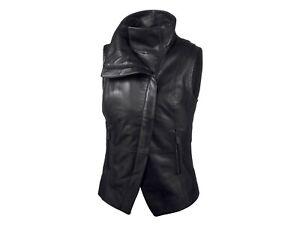 New Harley-Davidson Women's Leather & Compression Knit Vest 96737-19VW