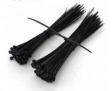100pcs Black Nylon Cable Wire Ties 7.6mm*200mm 120 Lbs