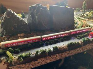 "Marklin spur z scale/gauge S-Bahn ""Coca-Cola"" Car Set with Interior Lighting."