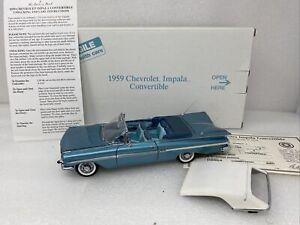 1/24 Danbury Mint  1959 Chevrolet Impala Convertible Crown Saphire