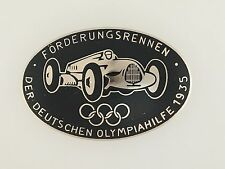 German 1936 Olympic Games Sponsors motor race enamel breast badge award 1935