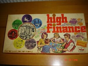 HIGH FINANCE BOARD GAME VINTAGE BOARD GAME 1960's, A TRI-ANG GAME TG26