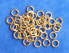 100 gold plated 5mm jump rings, findings for jewellery making crafts