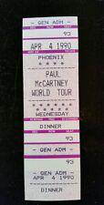 Paul McCartney Dinner Ticket 4/4/1990 Phoenix machen ein Angebot!