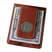 Personalized Money Clip and Wallet Combo - Brown - Groomsmen Gift