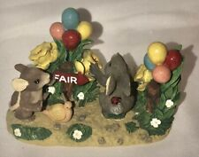 """New listing Fitz & Floyd Charming Tales Figure Mice Teeny Tiny """" Off To The Fair """""""