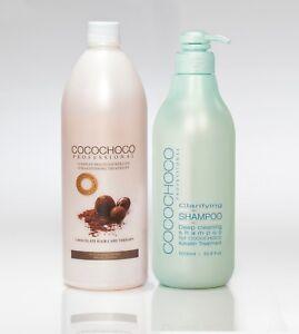 COCO CHOCO Brazilian Keratin Hair Treatment 1000ml +1000ml Deep cleaning shampoo