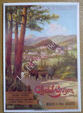 Publicité CHATEL GUYON PAris Lyon Mediterranee train casino theatre    advert