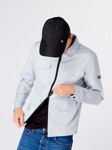 Terrace Cult Mens Ciro Lightweight Overshirt-Silver Grey