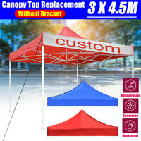 3x4.5m Garden Gazebo Top Cover Roof Replacement Tent Canopy 1-Tier Sunshade @