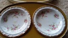 Pair Paragon Victoriana Rose Sweet Dishes in Original Box- 1966