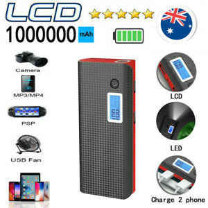 1000000mAh Power bank Digital LCD LED Charger Batterie 2USB For Mobile phone