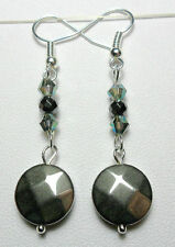 Hematite Mixed Metals Round Costume Earrings