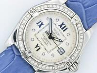 BREITLING LADIES DIAMOND WATCH GALACTIC COCKPIT A71356 STAINLESS STEEL WATCH