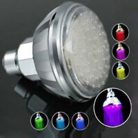 LED Shower Head 7 Color Glow Romantic Adjustable Light Bath Facut Home Bathroom
