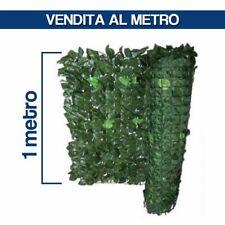 SIEPE SINTETICA ARTIFICIALE ARELLA EDERA SUPPORTO RETE H 1 MT AL METRO 29193/1