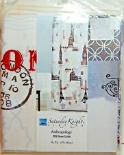 Saturday Knight Peva Vinyl Shower Curtain Anthropology 70 x 72 New