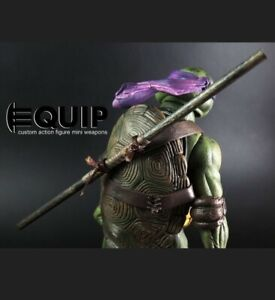 TMNT Turtles Custom Bo staff for 1:12 Neca Donatello (FIGURE NOT INCLUDED)