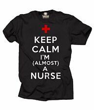 Nurse T-shirt Almost A Nurse Tee Shirt Nursing School MD Nurse graduation Tee