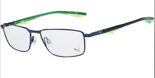 New PUMA Eyewear Navy Blue & Green Optical Frames Glasses PU00650 54-16-140