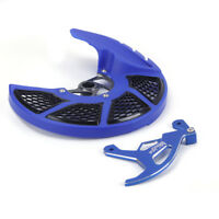 Blue Plastic Front + Rear CNC Brake Disc Rotor Guard Cover For Yamaha Motorcycle