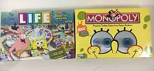Spongebob Squarepants MONOPOLY + The Game Of LIFE | 2 Board Games, Fast Shipping